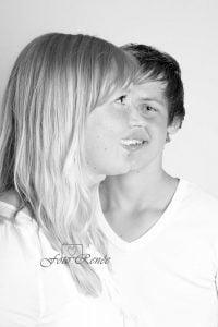 Portretfotografie samen in zwart wit 2