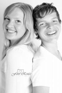 Portretfotografie samen in zwart wit 3