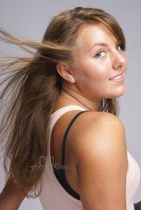 Portretfotografie vrouw met los haar