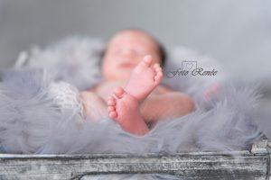 Newborn close up van voetjes