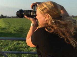 Renée in actie als fotograaf