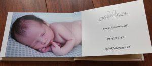 Konpoli fotoalbum voor newborn fotografie