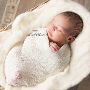 newborn baby meisje wrap handje