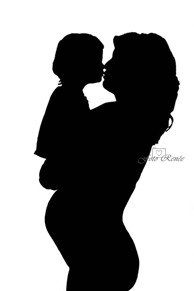 Zwangerschapsfotografie schaduw