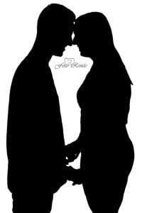 Valentijn foto samen zwart wit